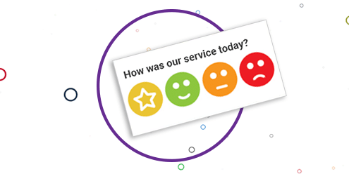 How was our service today with four icons