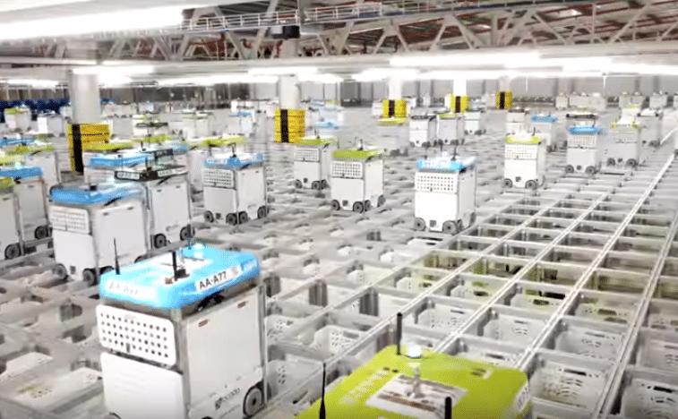 ocado robots