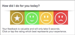 email signature survey smileys