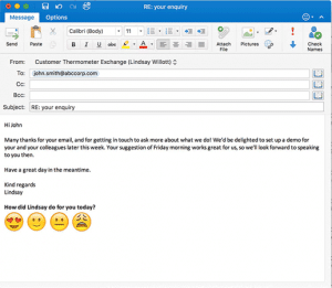 Simple 1-click icons inside an Outlook signature