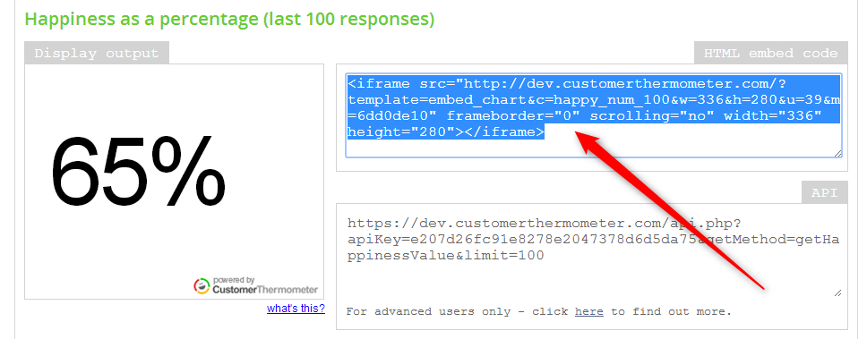 , How to embed a Customer Thermometer widget