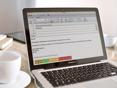 Measuring Net Promoter Score Outlook footer
