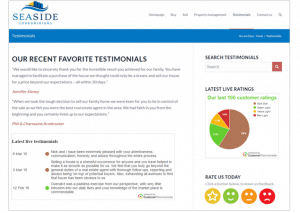 How to set up a areal estate testimonials page
