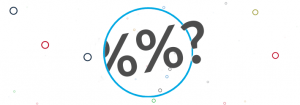 Percentage signs and question mark