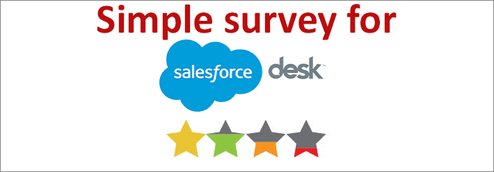 salesforce desk satisfaction survey