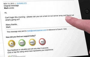 Simple to answer Salesforce Desk survey in a single click