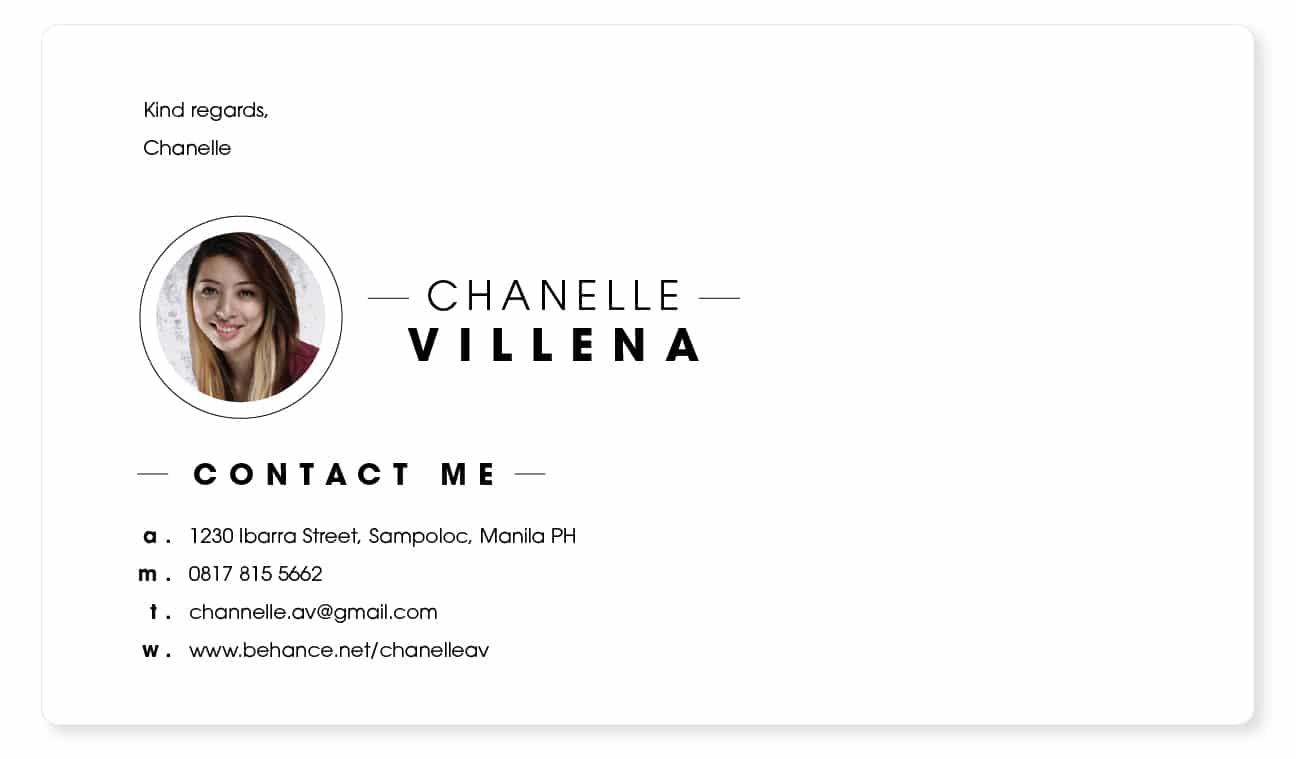 simple picture email signature