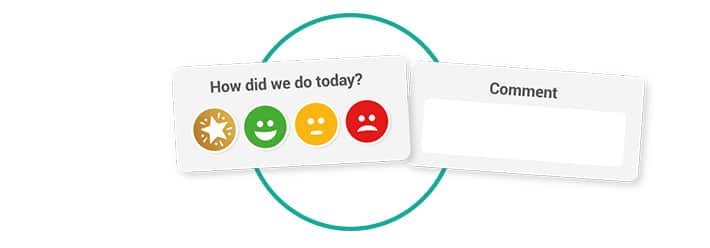 A Smiley Face Survey Template Customer Thermometer