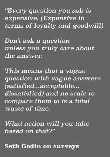 surveys seth godin