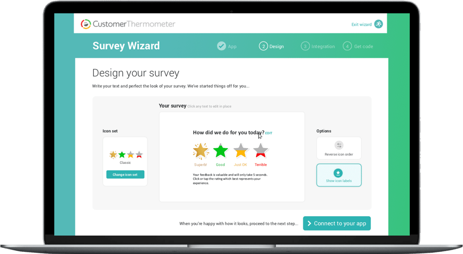 Survey wizard - design your survey