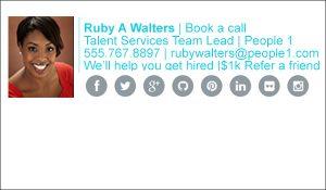 talent recruiter email signature