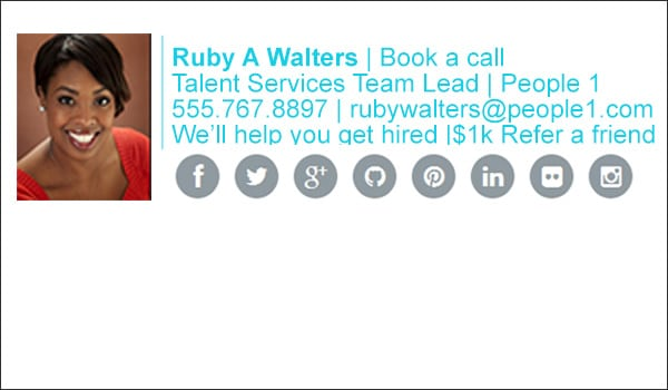 talent recruiter email signature