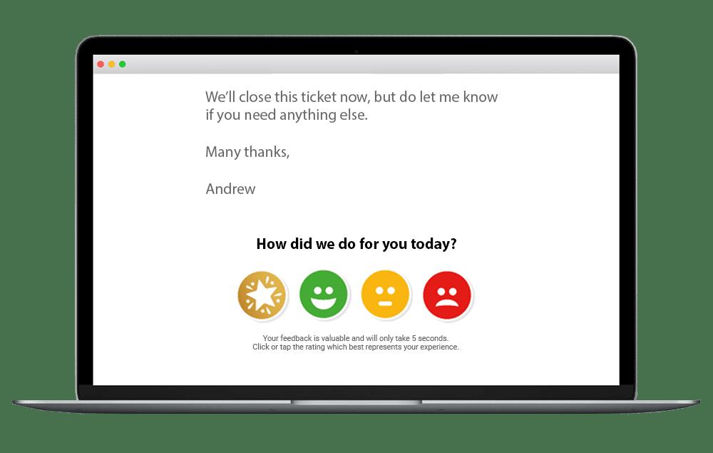zendesk customer survey satisfaction example