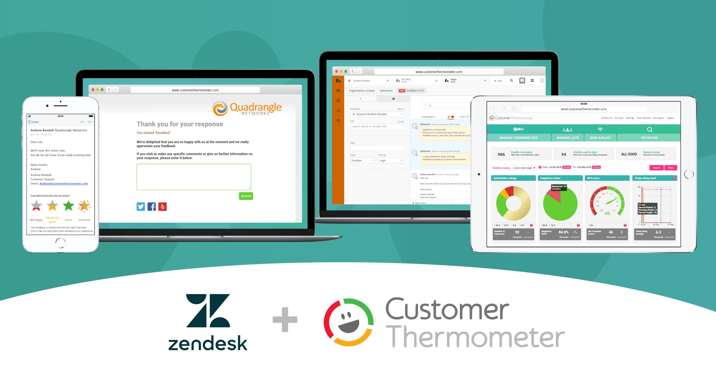 Zendesk Customer Satisfaction Survey & Support Ticket Survey