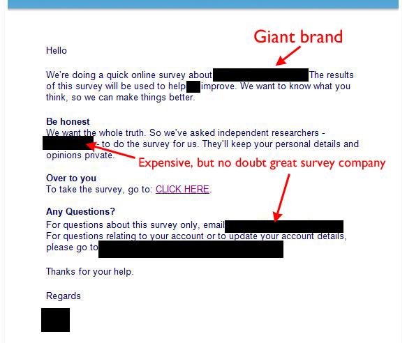 big survey example