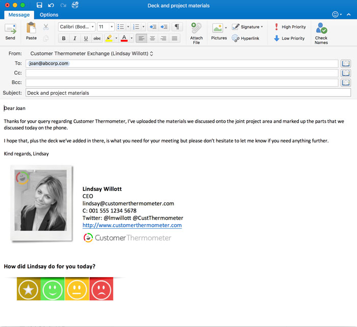 outlook and gmail signature thermometers - surveys
